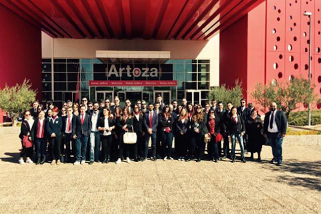 Εκπαιδευτική επίσκεψη του ΙΕΚ Πελοποννήσου - Τουριστικής Σχολής στην Artoza 2017
