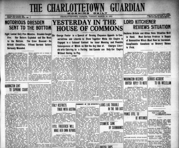The Charlottetown Guardian cover
