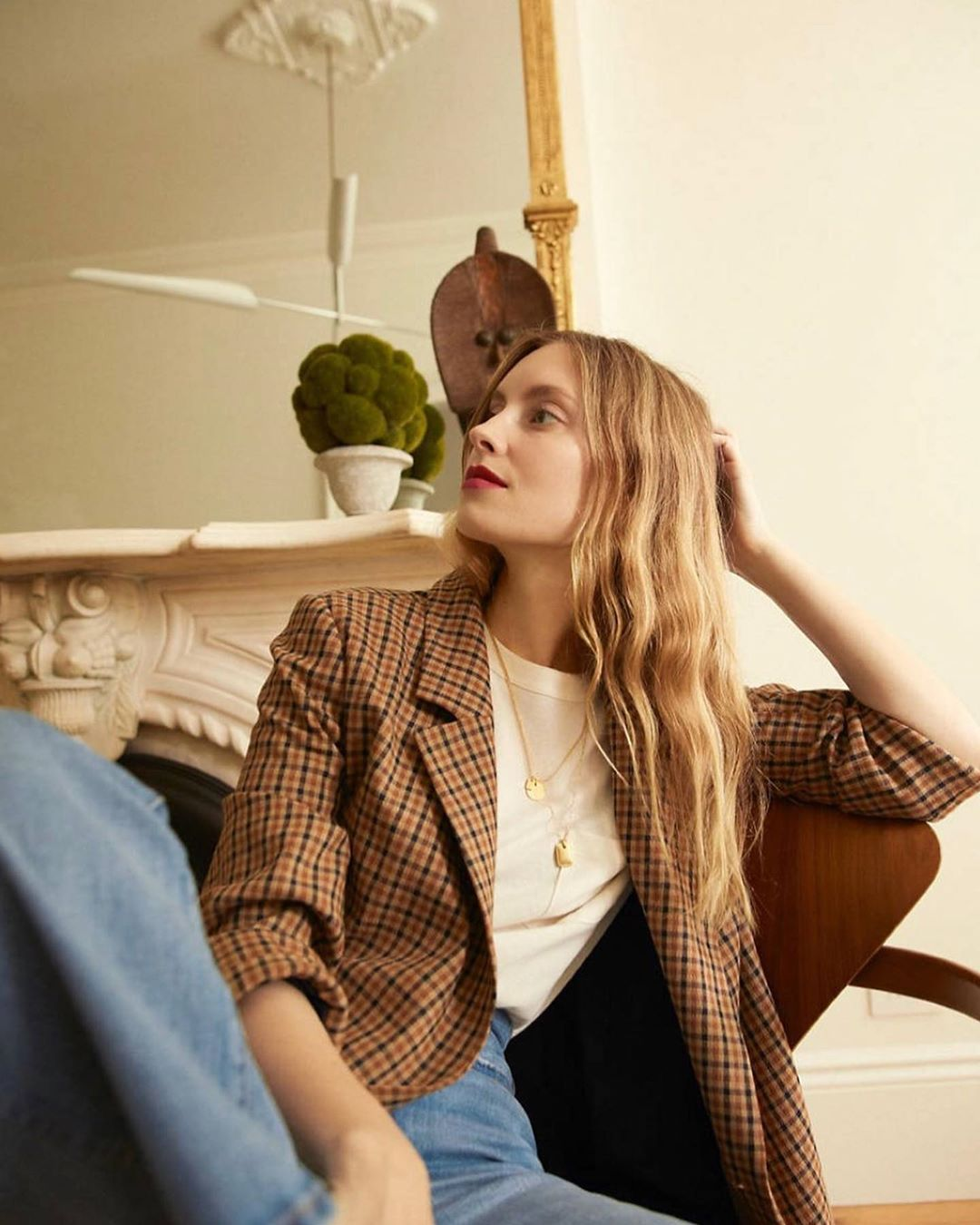 How to Wear a Checked Blazer for Fall — Instagram Outfit Inspiration