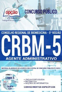 Baixar Apostila Concurso CRBM 5ª Região 2018 PDF