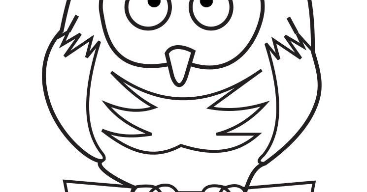 Owl Drawings Coloring Pages High Resolution