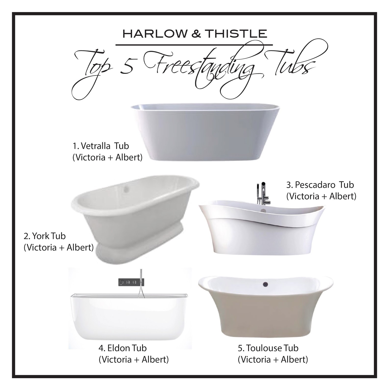 Top 5 Freestanding Tubs Victoria Albert Harlow And Thistle