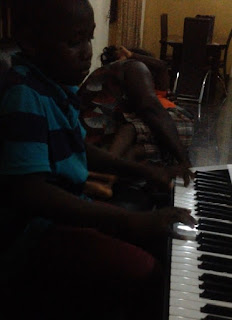 young pianist playing casting crown on the piano
