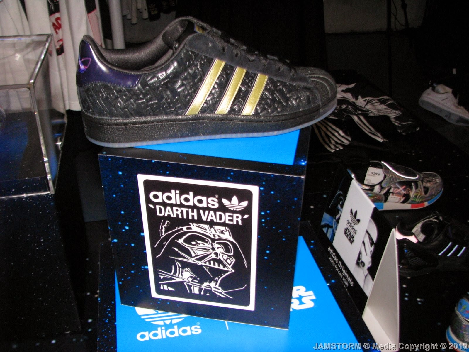 adidas Originals x Star Wars collaboration launched shoes and apparel  presented by models that walked wearing them. For more coverage check out  these images ... 026b0672fb