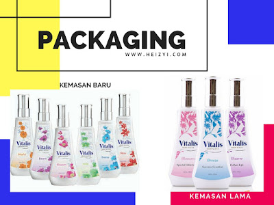 Kemasan Baru Packaging New Vitalis Body Scent Blossom