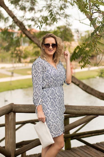 Vestido estampa azulejo