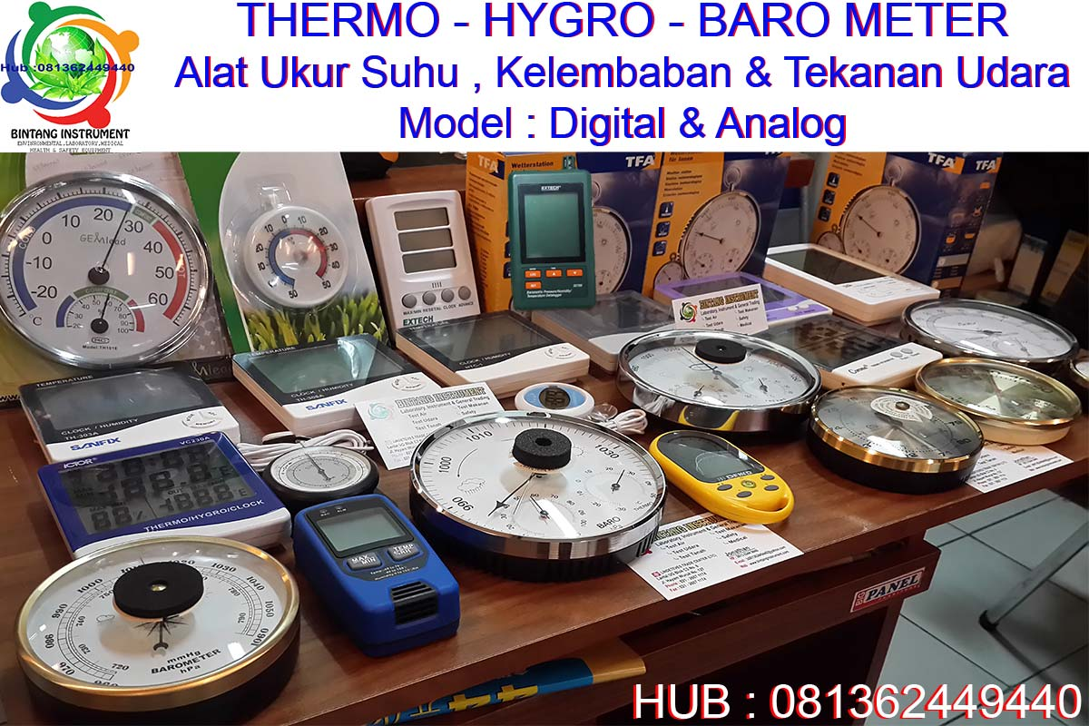 Bintang Instrument 081362449440 Jual Thermometer Wet Dry Grosir The Brush Stained Glass Green Thermohygro Baro Meter