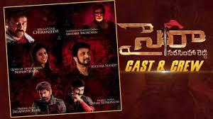 Sye Raa Narasimha Reddy (SRNR) Movie Actors Actress Producers Director Names