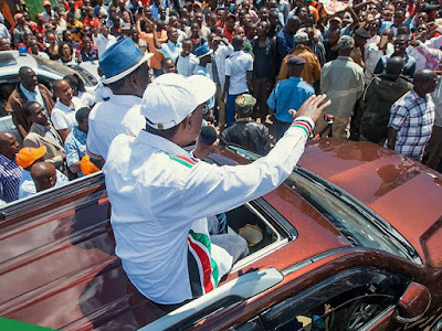 #NASAinMeru. Raila Odinga and Kalonzo Musyoka in Meru. PHOTO |  Courtesy