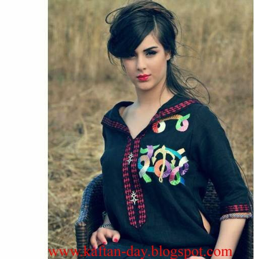 4e8daafefed87 اروع جلابة مغربية عصرية خفيفة للبنات 2014 - قفطان اليوم