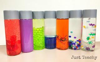 Sensory Bottles, www.justteachy.blogspot.com