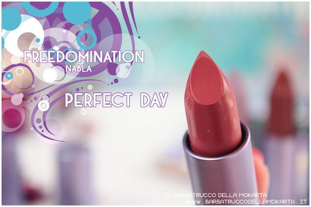 perfect day review  nabla cosmetics freedomination collection summer lipstick diva crime