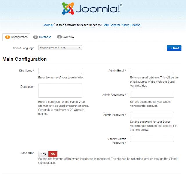 Cara terbaru install joomla 3 di localhost menggunakan