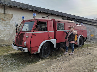vintage fire engine at the lublin open air museum