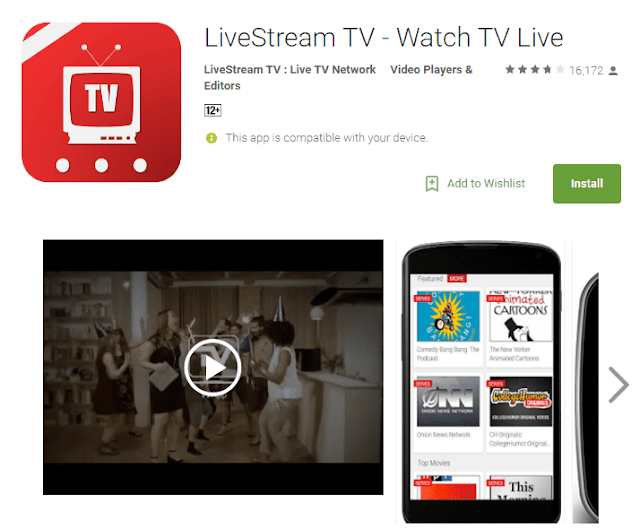 Aplikasi Tv Online ANdroid