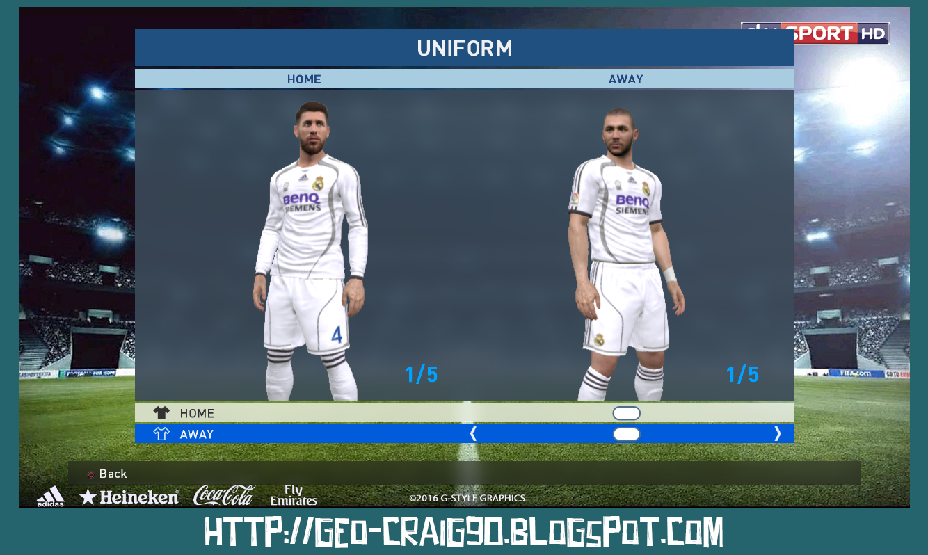 984162baeac PES 2017 Real Madrid Kit Season 2006-07 HD. High Definition Quality Kit    Font. LINK  DOWNLOAD