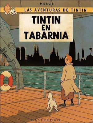 Tintin en Tabarnia, Hergé,cómic