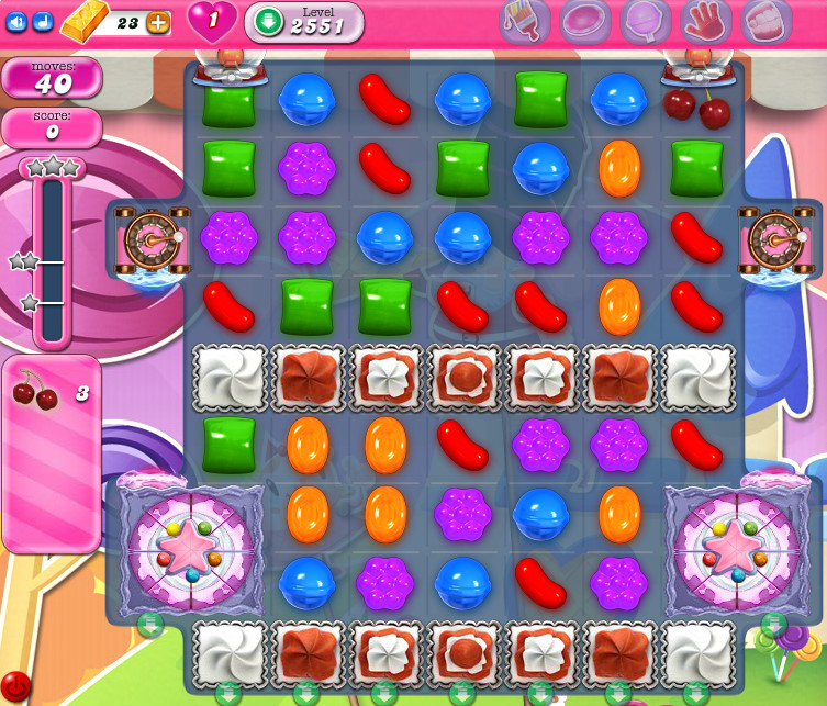 Candy Crush Saga level 2551