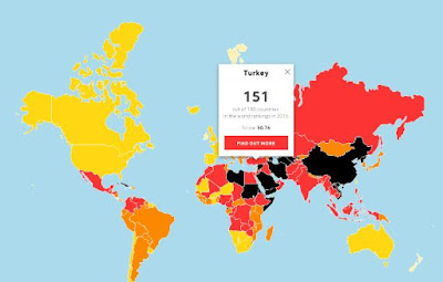 RSF, Press Freedom Index - 2016