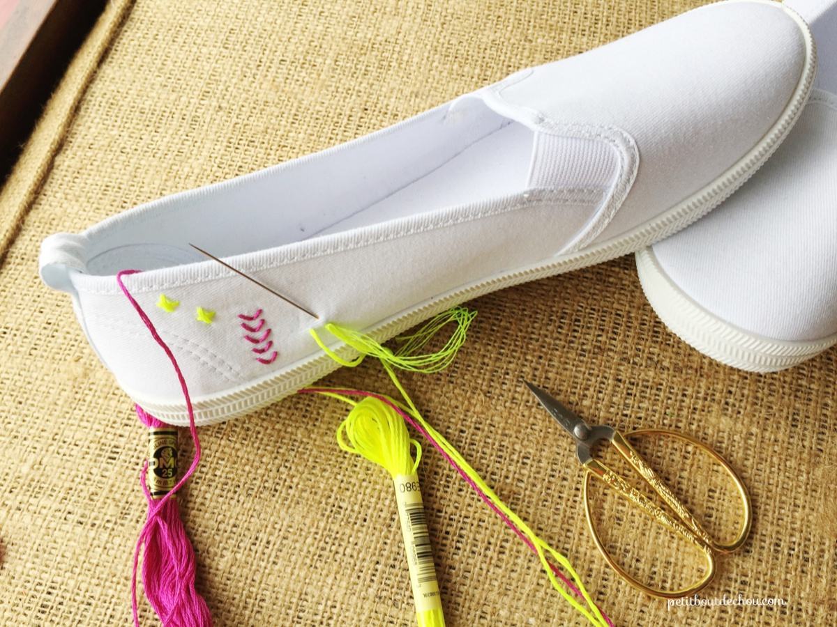 DIYCustom Summer Shoes Embroidery Petit Bout de Chou