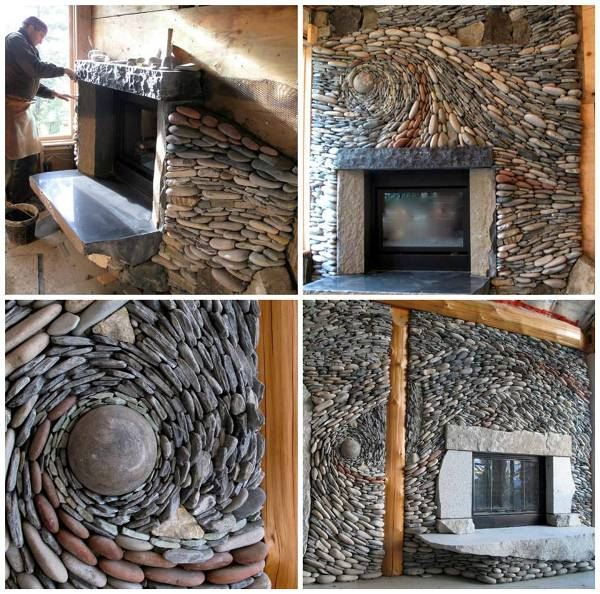 El blog de la elena un blog dulce divertido y entretenido chimenea decorada con piedra - Chimeneas de piedra ...
