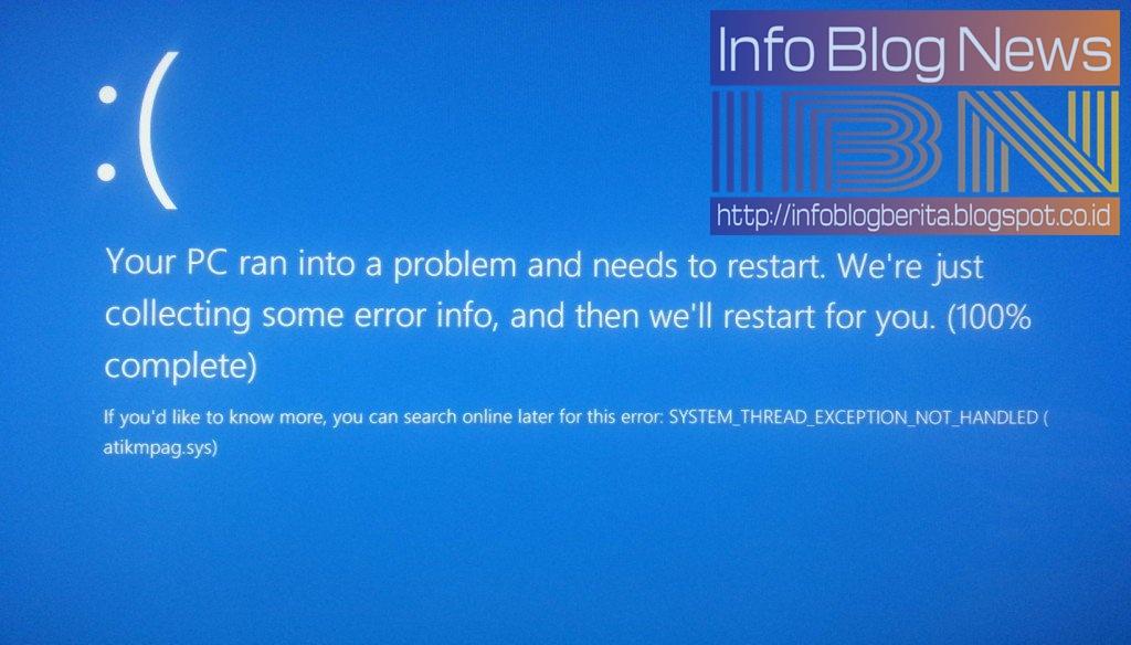 Cara Memperbaiki Error Atikmdag Sys Bsod Di Windows 10 Info Blog News