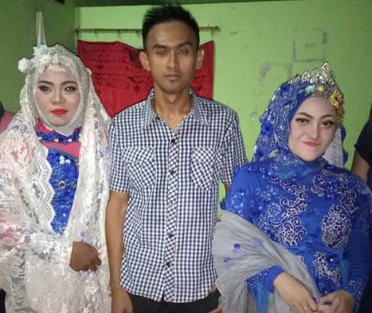 Pria yang menikahi dua wanita sekaligus.
