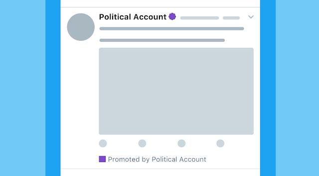 O Twitter disse que adicionará rótulos aos anúncios relacionados às eleições e também irá revelar quem está por trás de cada um deles.