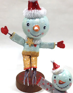 Whimsical Folk Snowman Decor