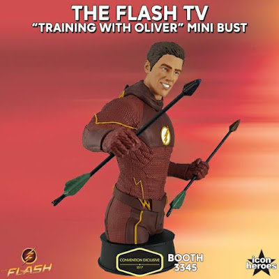 "San Diego Comic-Con 2017 Exclusive DC Comics The Flash TV Series ""Training with Oliver"" Mini Bust by Icon Heroes"