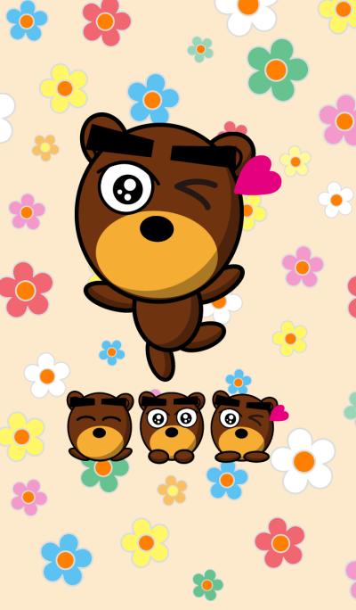 Black Eyebrows Bear 2