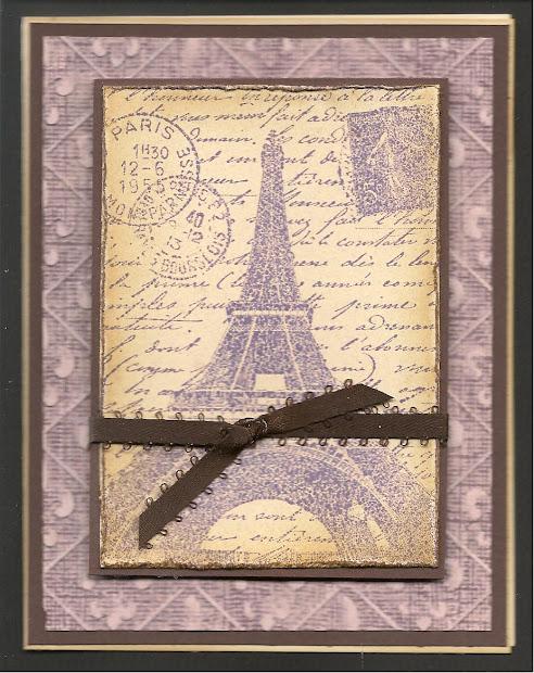 World Purple Eiffel Tower