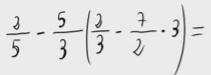 38.    Operación combinada de números racionales