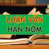 Luận án, Luận văn ngành Hán Nôm