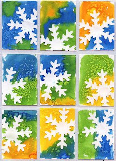Beautiful snowflake art project for kids.