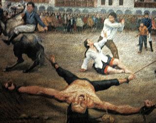 Quadro Retrata a Execução de Tupac Amaru, no Museo Historico Regional de Cusco
