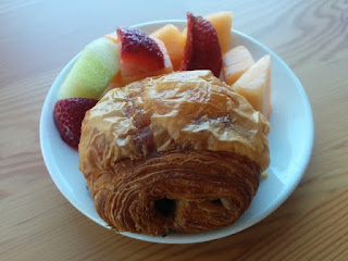 Fresh fruit and chocolate croissant, Sunnyvale, California