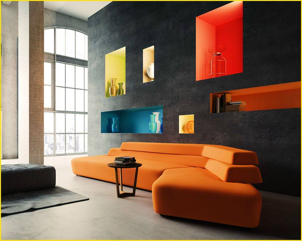 25 fine ways to design built in wall niches decor units. Black Bedroom Furniture Sets. Home Design Ideas