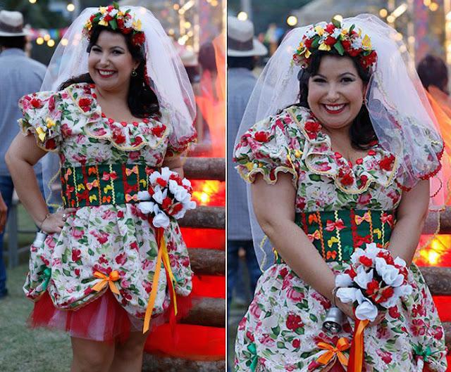 Claudete   (Mariana Xavier ), figurino festa junina, I Love Paraisópolis