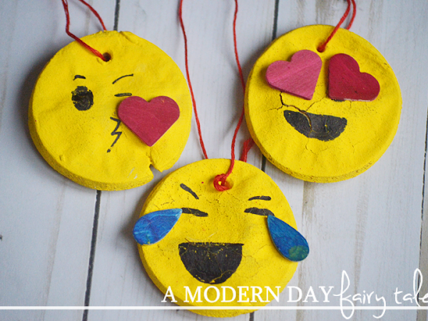 DIY Emoji Salt Dough Ornaments