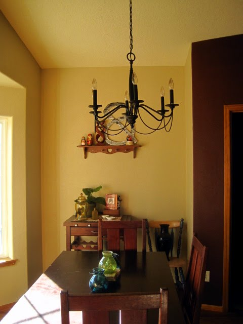 Our Dining Nook Is Just A Bay Windowed Area Off Kitchen The Open Door You See There Laundry Mudroom To Right Of That