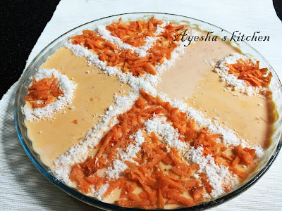 CARROT PUDDING / CARROT COCONUT PUDDING - Easy dessert