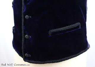 11th Doctor velvet waistcoat sewing pattern