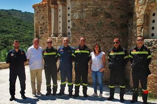 Επίσκεψη από στελέχη του Πυροσβεστικού Σώματος στη νότια ορεινή Ηλεία