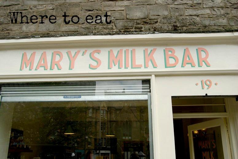 where to eat edinburgh,mary's milk bar,edinburgh fringe