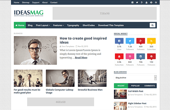 Ideas Mag Blogger Template Friend