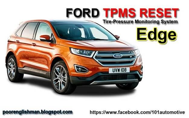 Ford Edge Tpms Reset Gu