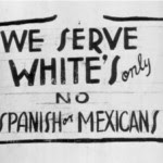"""Whites Only,"" 1942. Courtesy www.csusmhistory.org"