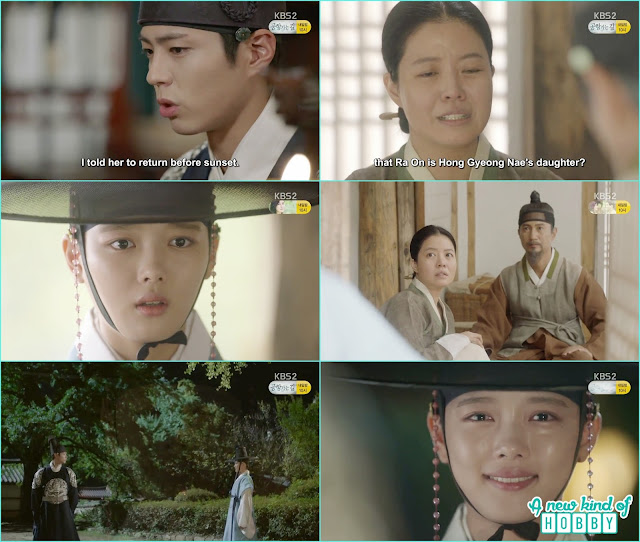 crown prince waiting for ra on and she came back in the palace after the sunset  - Love In The Moonlight - Episode 12 Review