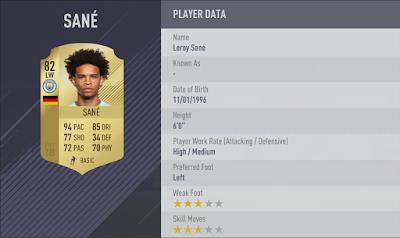 Leroy Sané-fifa-18